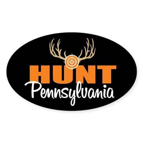 Hunt Pennsylvania Oval Sticker