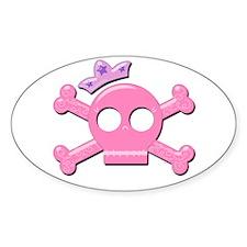 Cute Pirate Princess Oval Decal