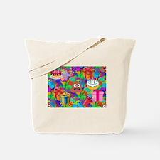 happy birthday poop emoji Tote Bag