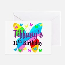 PERSONALIZED 11TH Greeting Card