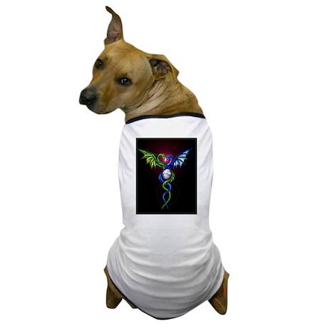 Dragon Caduceus Dog T-Shirt