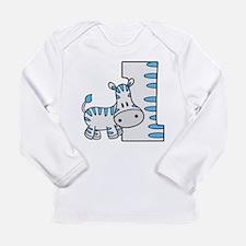 Zebra 1st Birthday Long Sleeve Infant T-Shirt