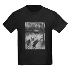Sledding Kids Dark T-Shirt
