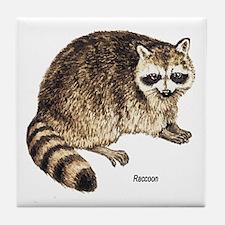 Raccoon Coon Tile Coaster