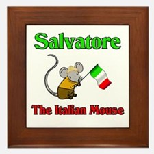 Salvatore The Italian Mouse Framed Tile