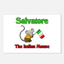 Salvatore The Italian Mouse Postcards (Package of