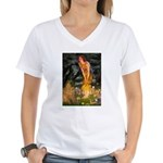 Fairies / Shar Pei Women's V-Neck T-Shirt