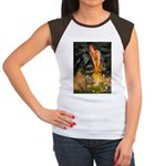 Fairies / Shar Pei Women's Cap Sleeve T-Shirt