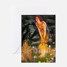 Fairies / Shar Pei Greeting Card