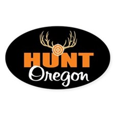 Hunt Oregon Oval Decal
