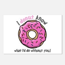 I Donut Know What I'd Do Postcards (Package of 8)