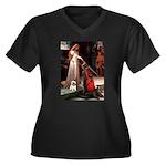 Accolade / Cairn Women's Plus Size V-Neck Dark T-S