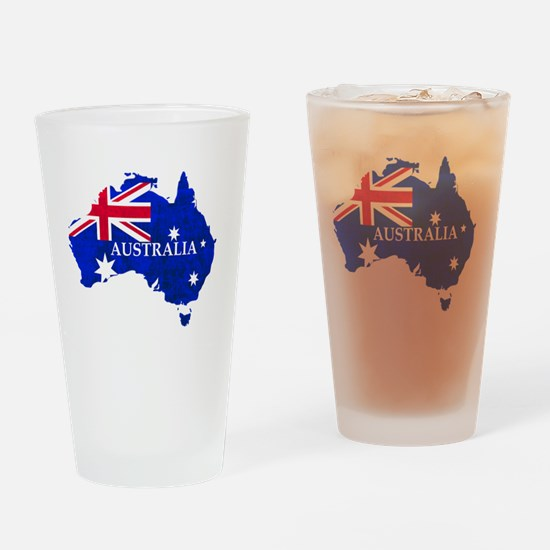 Funny Australian flag Drinking Glass