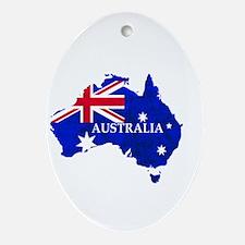 Australia flag Australian Country Oval Ornament