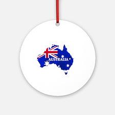 Australia flag Australian Country Round Ornament