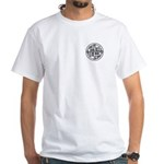Sixth Dimension Cubed Logo White T-Shirt