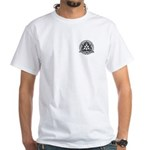Trinity Illusion Logo White T-Shirt