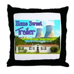 Home Sweet Trailer Throw Pillow