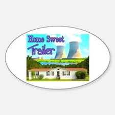 Home Sweet Trailer Oval Decal