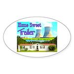 Home Sweet Trailer Oval Sticker