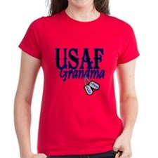 Air Force Grandma Dog Tag Tee