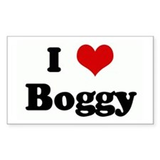 I Love Boggy Rectangle Decal