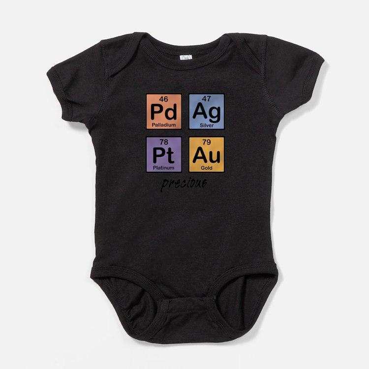 Cute Geek ipad2 periodic table Baby Bodysuit