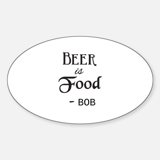 Beer is Food Personalized Decal