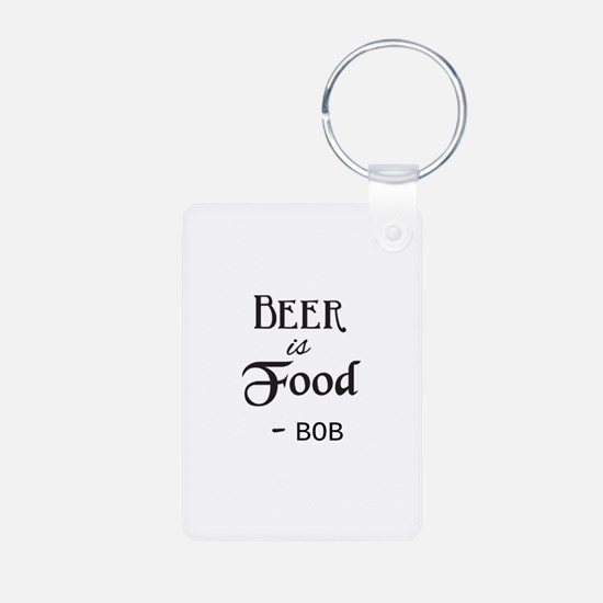 Beer is Food Personalized Keychains