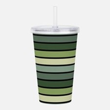 Monochrome Stripes: Sh Acrylic Double-wall Tumbler