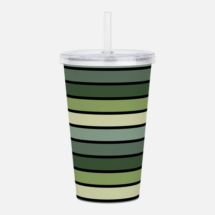 Monochrome Stripes: Sh Acrylic Double-wall Tumbler
