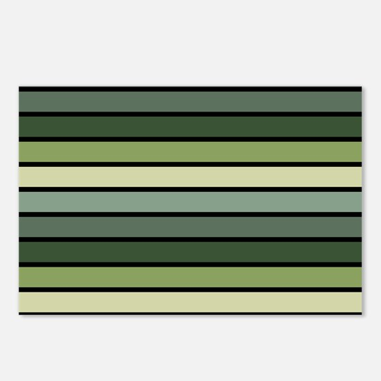 Monochrome Stripes: Shade Postcards (Package of 8)