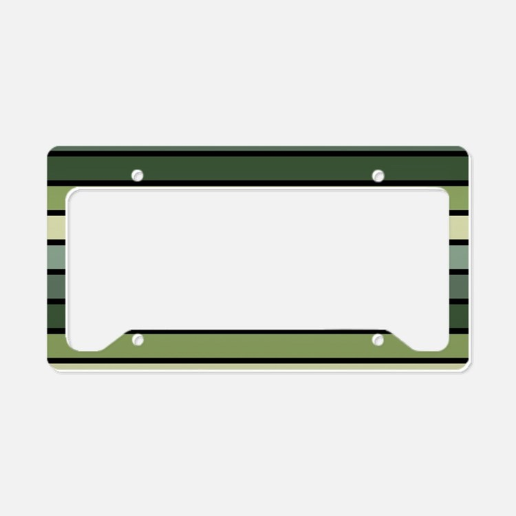 Monochrome Stripes: Shades of License Plate Holder