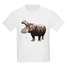 Hippo Hippopotamus (Front) Kids T-Shirt