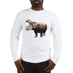 Hippo Hippopotamus Long Sleeve T-Shirt