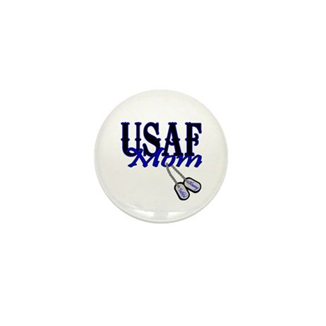 Air Force Mom Dog Tag Mini Button