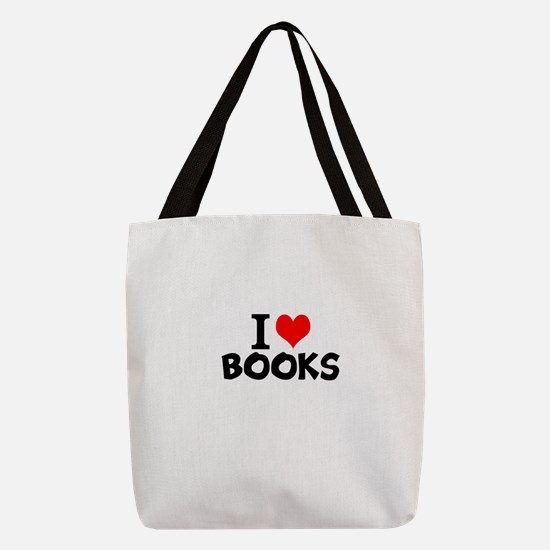 I Love Books Polyester Tote Bag