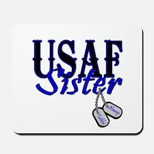 Air Force Sister Dog Tag Mousepad
