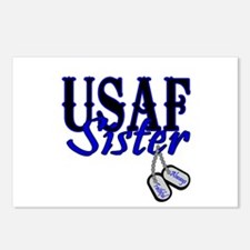 Air Force Sister Dog Tag Postcards (Package of 8)
