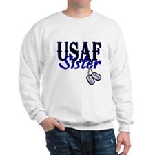 Air Force Sister Dog Tag Sweatshirt