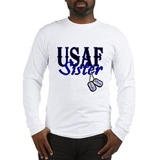 Air Force Sister Dog Tag Long Sleeve T-Shirt
