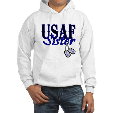 Air Force Sister Dog Tag Hooded Sweatshirt