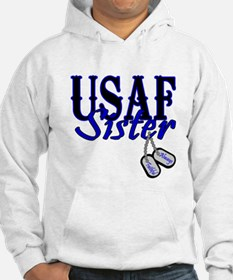 Air Force Sister Dog Tag Hoodie