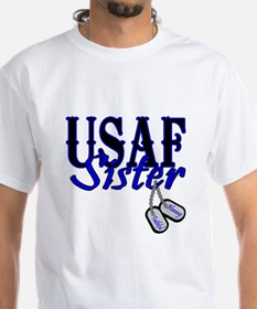 Air Force Sister Dog Tag Shirt