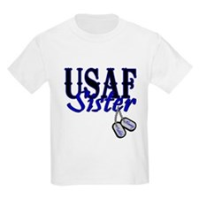 Air Force Sister Dog Tag T-Shirt
