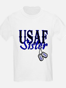 Air Force Sister Dog Tag T-Shirt