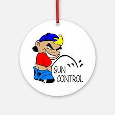P On Gun Control Ornament (Round)