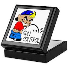P On Gun Control Keepsake Box