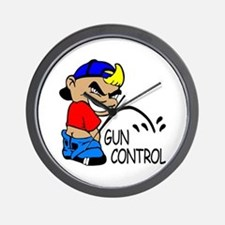 P On Gun Control Wall Clock