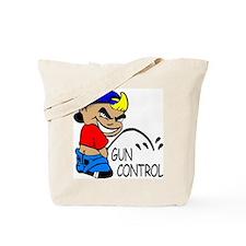 P On Gun Control Tote Bag